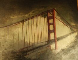 Golden Gate Bridge in the Dusk by Lovegreen13
