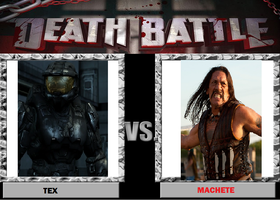 Death Battle idea #10 Tex (rvb) vs. Machete by ragpin