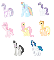 :Marker: Mane 6 and Musical Ponies by Orichin