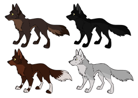 More Wolf Adopts~ CLOSED by SapphireSquire