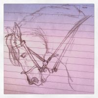 Realism horse sketch by Sharkic-ii