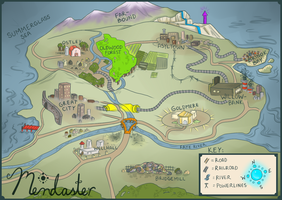 Map of Mendaster by Moon-DaZzLe