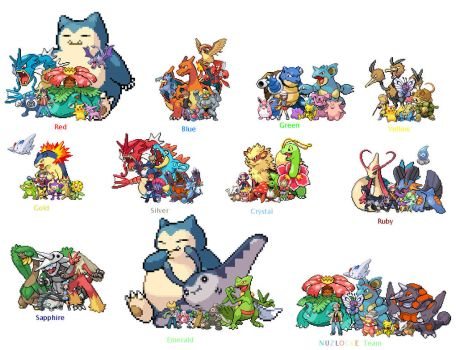 Pokemon Trainer's that I luv (Nuzlocke too) by EnderMinerRaph