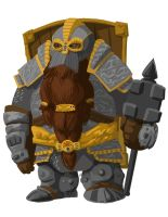 Dwarf Ironbreaker by digital-socrates