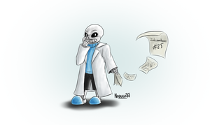 Inkcember 25 - Scientist!Sans by Nabuco88