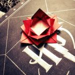origami rose by Kit-Kat-Weeb
