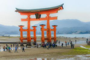 the great Torii by Rikitza