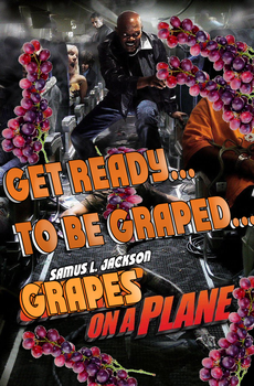 Grapes on a plane by D3adM3rchant