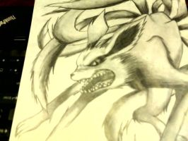 Nine-Tailed Fox [Naruto] by Palmed-Up-Faces