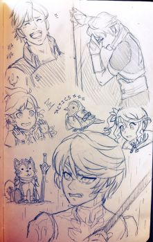 FEA/TOZ sketch dump by BleachcakeCosplay