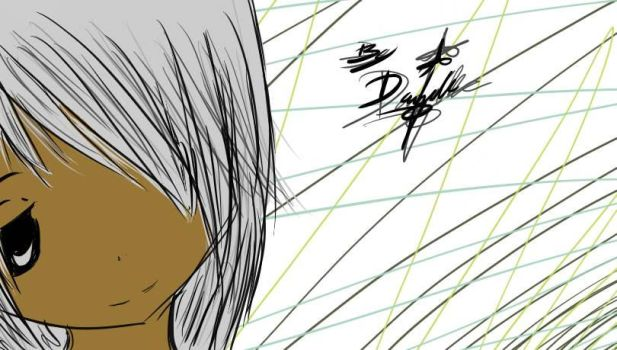 my friend with gray hair XD by Theanimefangirl101