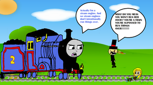 tieing up someone to the railroad on Sodor by burntuakrisp