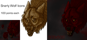 Snarly Wolf Icon Prices by lucidcoyote