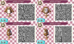 Attack On Titan animal crossing QR code by BlackBerriNinja