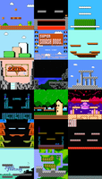 Super Smash Bros NES - Stages by pyitoechito