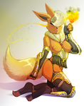 Digital painting: Fire mage Flareon by avante92