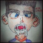 Napkin Art 114 - Norman Brushes Teeth - ParaNorman by PeterParkerPA