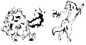 wolf tattoos by snowpups123