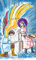 Annunciation coloring page by eightcrows