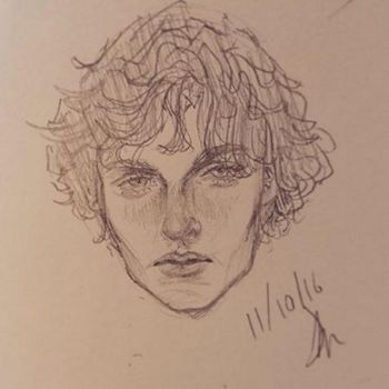Sketchbook drawing: Man face by Robo-Sushi