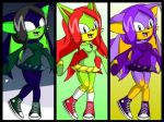 Mushisho, Ishiku and Kuroe: Sonic Charrie Maker. by AmeliaLovesGaming