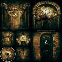 Dark Death Black Doom Metal Full CD Album Artwork by MOONRINGDESIGN