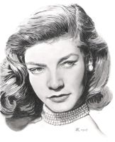 Lauren Bacall by AndyRidae