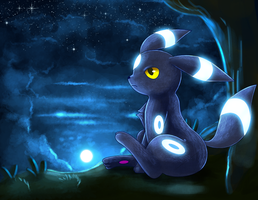 Night Fall Umbreon by Deruuyo