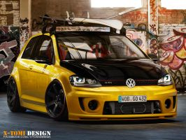 Vw Golf VII GTI by x-tomi