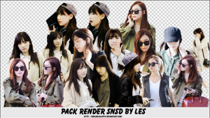 Pack Render SNSD By Les by yenlonloilop7c