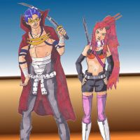 34 Kamina and Yoko Littner by ryuusei86