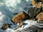 Waves Crashing Upon the Shore by LRfireangel