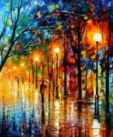 Colors of winter by Leonid Afremov by Leonidafremov