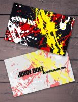 Splatter II Business Card by Freshbusinesscards