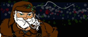 Santa Without Red and White On by nemalki