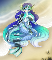Water Kaiju by AkuOreo
