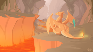 Lava cave by Kiibie