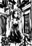 quick ink: girl on the street by therockerrabbit