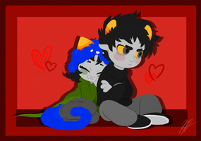 Karkat and Nepeta by MelvisMD