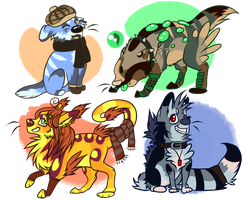 Chibi-Adopts -4/4 OPEN- by SilenceMoonskin