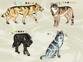 Wolf adoptables ONE LEFT by khasaki