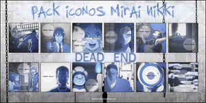 Pack Iconos Mirai Nikki - Blue by Andrea4You