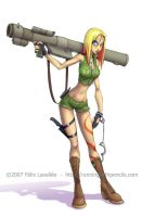 Bazooka Girl revised by falingard