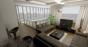 my 1st interior 2nd render by kasrawy