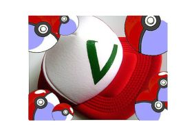 Custom Ash Ketchum Hat by spilledpaint88
