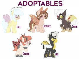 MLP Insect Adoptables! (CLOSED) by Mittenpatty