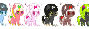 Earth Pony Adoptble Batch1 +CLOSED+ by PonyFuzz