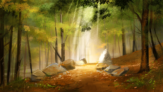 Speedpainting #2 - clearing by Clovernight
