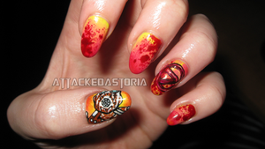 borderlands 2 nails by xtheungodx