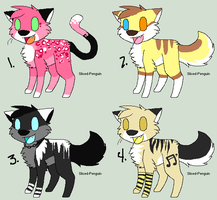 Chibi adoptables (25 POINTS EACH) All Closed by Sliced-Penguin